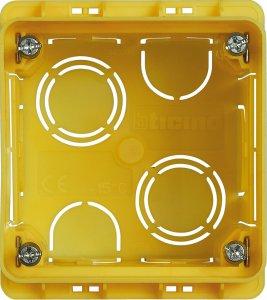 Фото Коробка установочная квадратная 2 модуля итальянский стандарт для твердых стен 70,5х70,5х58 мм.