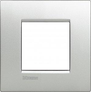 Фото Рамки металлические цвет алюминий итальянский стандарт