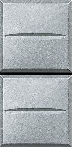 Выключатель двухклавишный однотактный (кнопка) 1NO+1NO, 1 модуль, 10 А, 250 В~