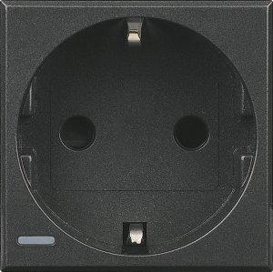 Розетка с заземляющим контактом и защитными шторками для защиты детей 16 А, 250 В~ немецкий стандарт 2 модуля, винтовые клеммы