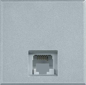 Розетка телефонная один выход RJ11 (4 контакта) 2 модуля