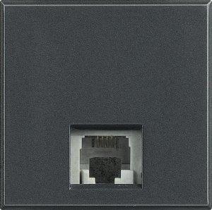 Фото Розетка телефонная один выход RJ11 (4 контакта) 2 модуля