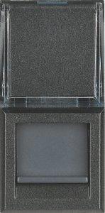 Фото Розетка информационная один выход RJ45 FTP (9 контактов), категория 6, 1 модуль