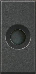 Фото Заглушка с отверстием для вывода кабеля 1 модуль
