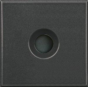 Фото Заглушка с отверстием для вывода кабеля 2 модуля