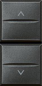 Фото Механизм управления приводами с блокировкой двухклавишный однотактный (кнопка) 10 А, 250 В~, 1 модуль