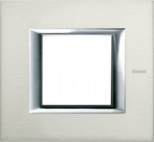 Фото Рамки металлические цвет алюминий немецкий и итальянский стандарт