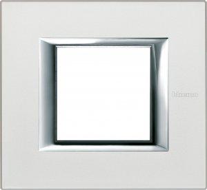 Рамки металлические анодированные цвет жемчужное серебро немецкий и итальянский стандарт