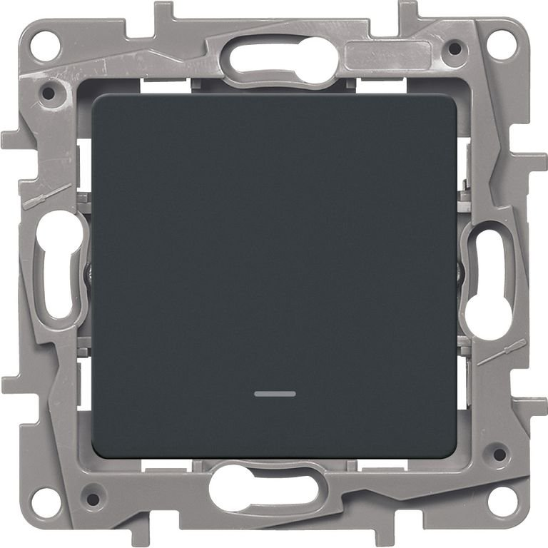 Фото Выключатель одноклавишный с контурной подсветкой 10 А, 250 В~, винтовые клеммы Etika