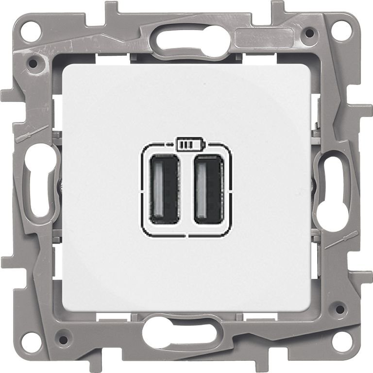 Зарядное устройство USB белое Etika