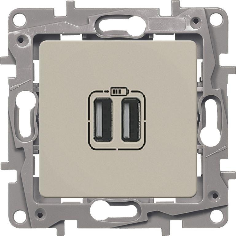 Зарядное устройство USB слоновая кость Etika