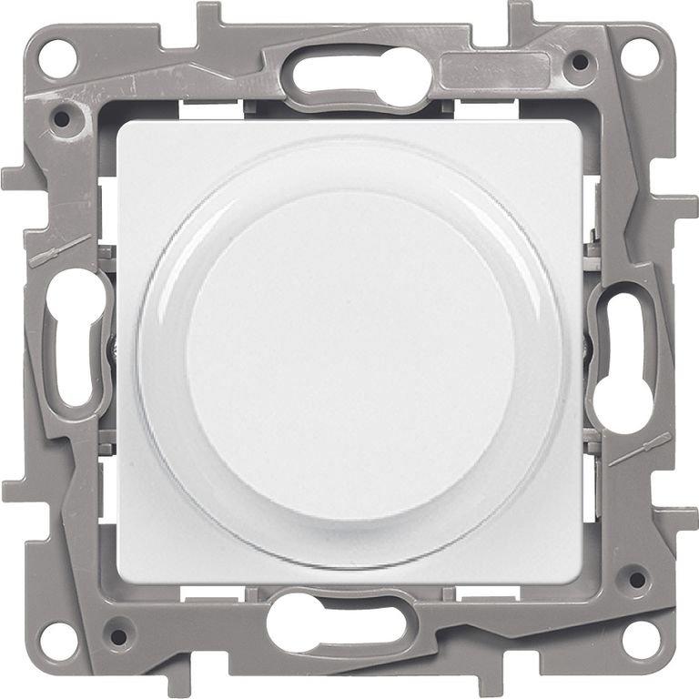 Светорегулятор поворотный 5-300Вт белый Etika