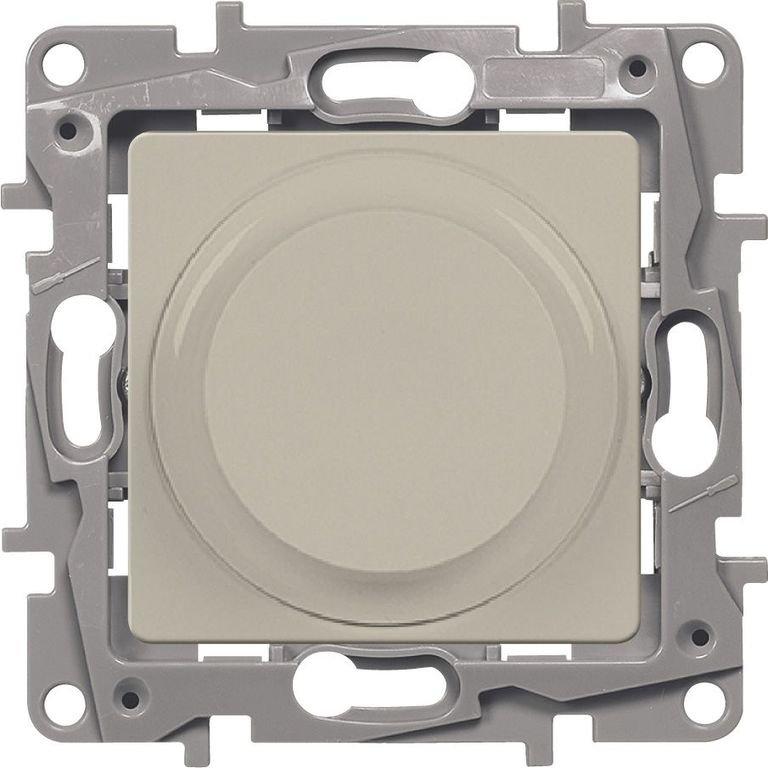 Светорегулятор поворотный 5-300Вт слоновая кость Etika