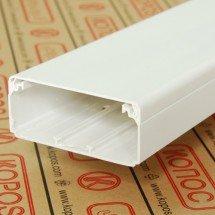 Электромонтажный короб (кабельный канал) белого цвета шириной от 60 мм. до 180 мм. Kopos