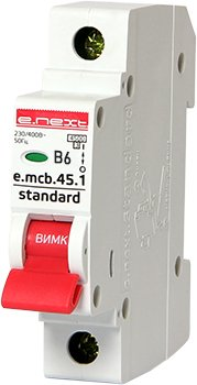 Автоматические выключатели однополюсные 4,5 кА E-Next тип В