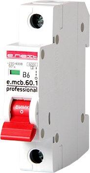 Автоматические выключатели однополюсные 6 кА E-Next тип В