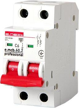 Фото Автоматические выключатели двухполюсные 6 кА E-Next тип С