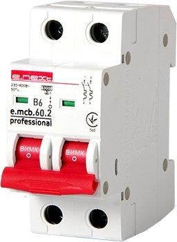 Фото Автоматические выключатели двухполюсные 6 кА E-Next тип В