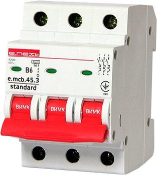 Фото Автоматические выключатели трехполюсные 6 кА E-Next тип В