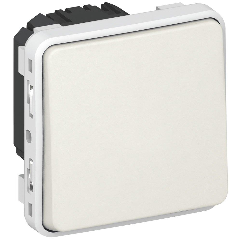 Фото Выключатель одноклавишный проходной (универсальный) влагозащищенный (IP55) 10 А, 250 В~ Plexo Legrand