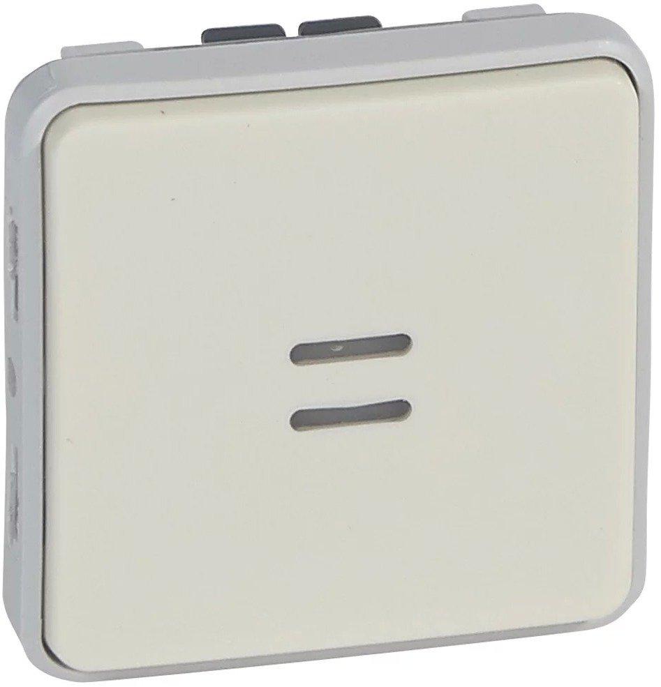 Фото Выключатель одноклавишный проходной (универсальный) с подсветкой влагозащищенный (IP55) 10 А, 250 В~ Plexo Legrand