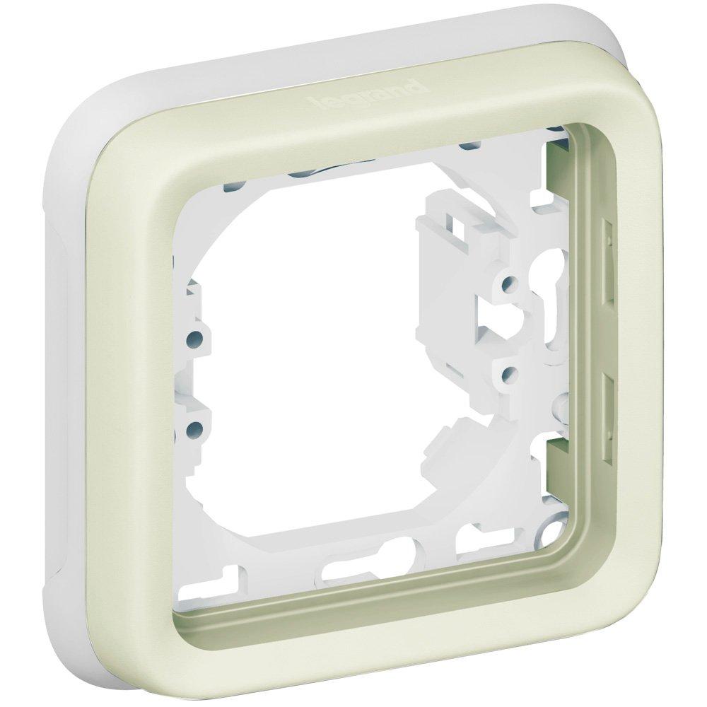 Фото Суппорт с рамкой однопостовой влагозащищенный (IP55) Plexo Legrand