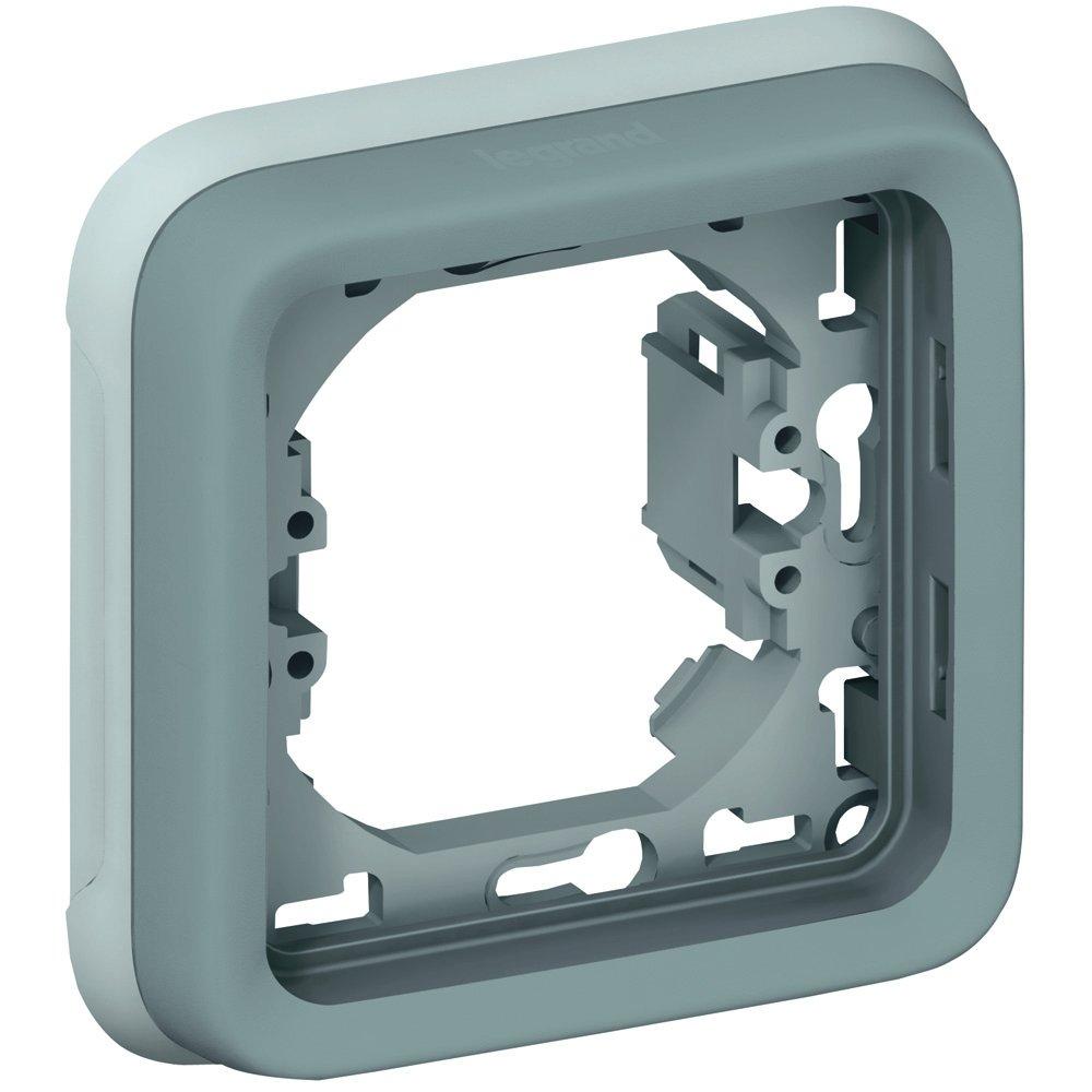Суппорт с рамкой однопостовой влагозащищенный (IP55) Plexo Legrand