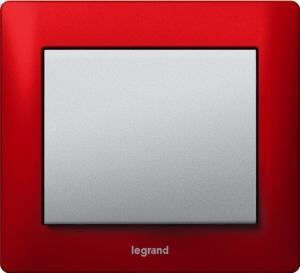 Рамки металлические Legrand Galea Life, цвет красный (Magic Red) 1—3 поста