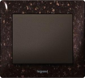 Рамки каменные Legrand Galea Life, цвет CORIAN® Cocoa Brown 1—5 постов
