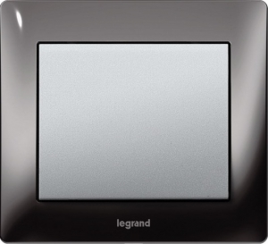 Рамки металлические Legrand Galea Life, цвет черный никель (Black Nickel) 1—3 поста
