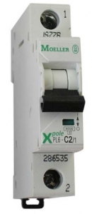 Автоматические выключатели однополюсные 6 кА Eaton (Moeller) PL6 тип С