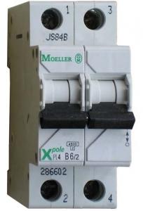 Автоматические выключатели двухполюсные 6 кА Eaton (Moeller) PL6 тип В
