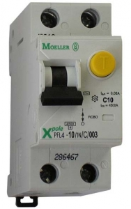 Фото Дифференциальные автоматические выключатели двухполюсные (1+N) Eaton (Moeller) PFL6 тип С