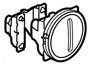 Одноклавишный бесшумный выключатель с функцией кольцевой светодиодной подсветки / индикации (цвет белый) 230 В~