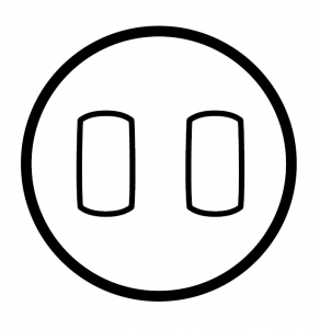 Двухклавишный выключатель с рычажком