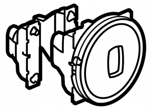 Одноклавишный выключатель с рычажком и функцией кольцевой светодиодной подсветки / индикации (цвет белый) 230 В~