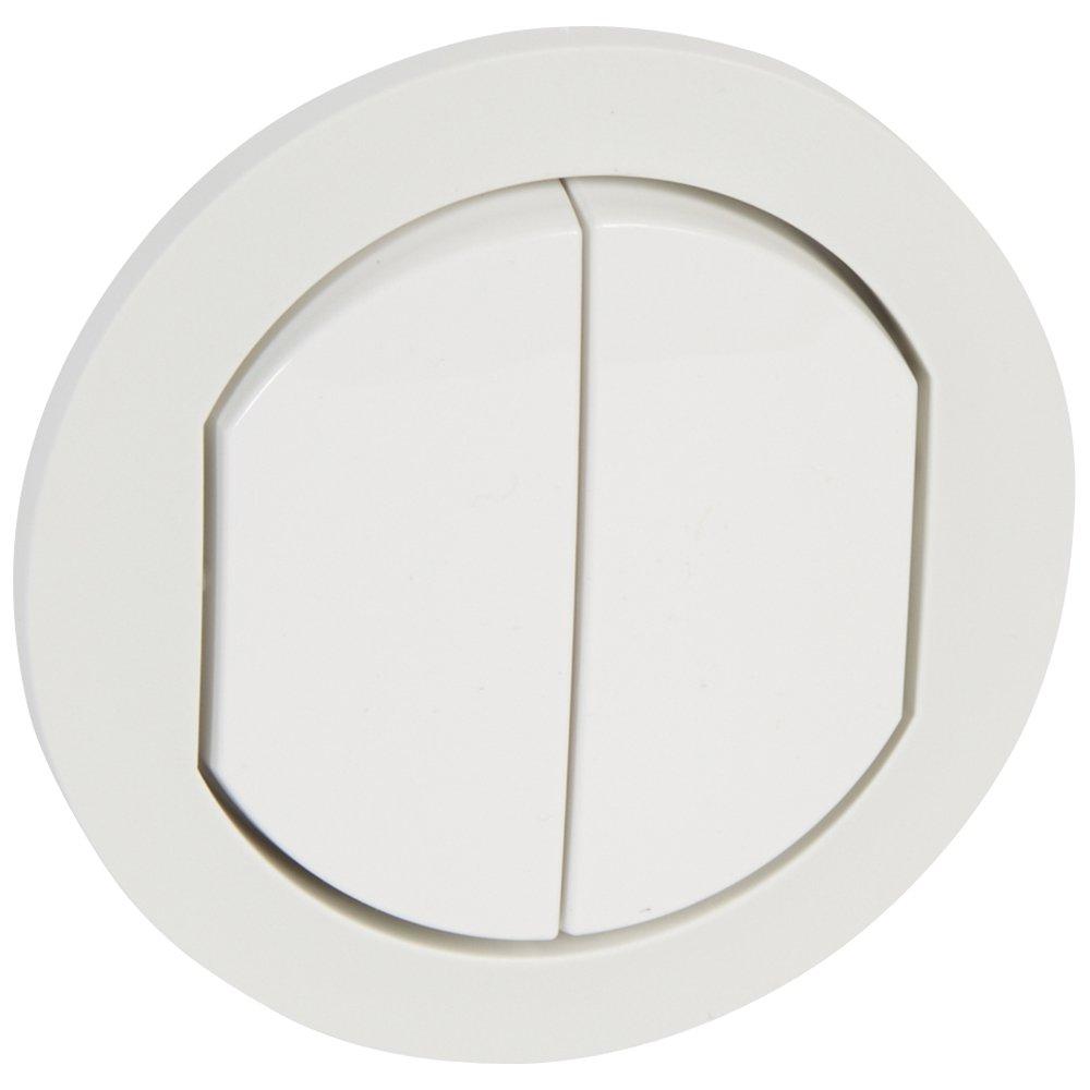 Двухклавишный выключатель, влагозащищенный (IP44)