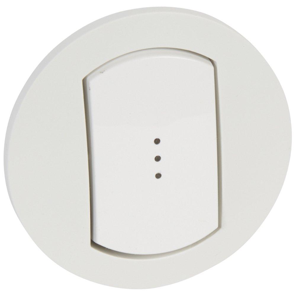 Фото Одноклавишный выключатель с подсветкой / индикацией, влагозащищенный (IP44)