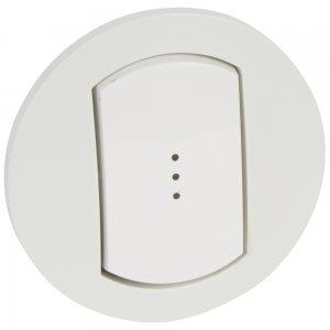 Одноклавишный выключатель с подсветкой / индикацией, влагозащищенный (IP44)