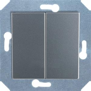 Фото Выключатель двухклавишный 10 А, 250 В~
