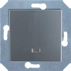Фото Выключатель одноклавишный с подсветкой (зеленая лампочка) 10 А, 250 В~